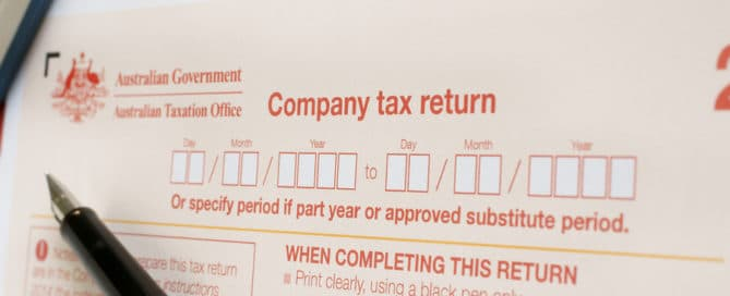 Completing an Australian annual company tax return concept