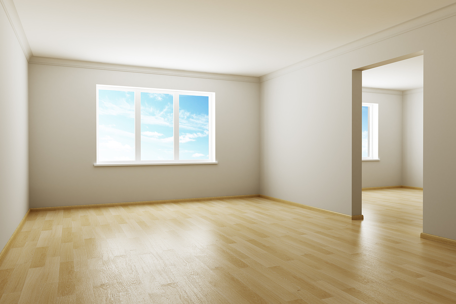 3d rendering the empty room with windows